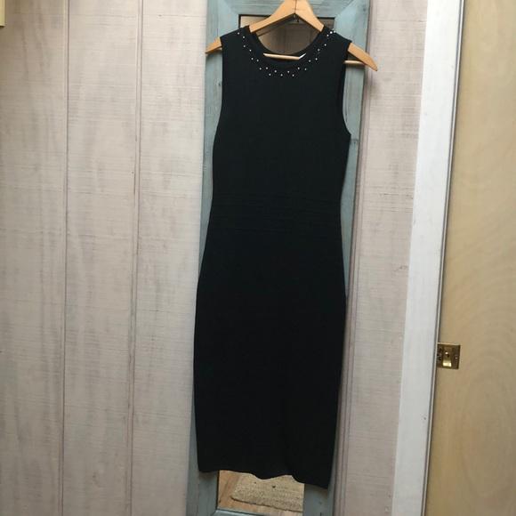 Black Midi Eva Mendes Dress